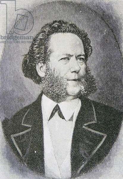 Engraving of Henrik Ibsen, 1906 (engraving)