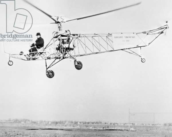 Igor Sikorsky Flying One of his Early Designs.