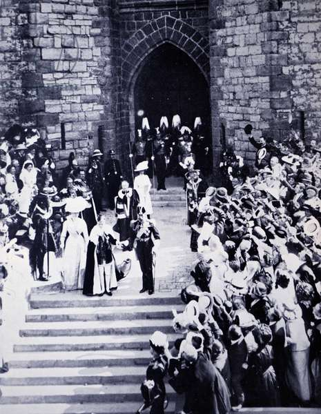 King George V and Mary of Teck after the King's coronation, 1911