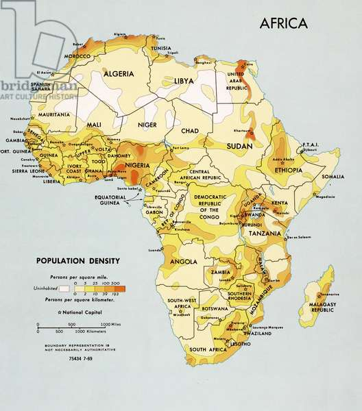 Africa Population Density