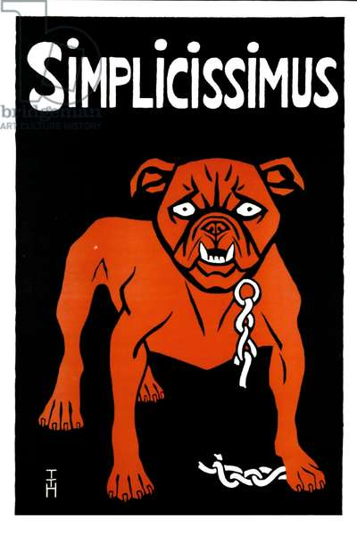 illustration of a dog for the Simplicissimus, 1897 (lithograph)