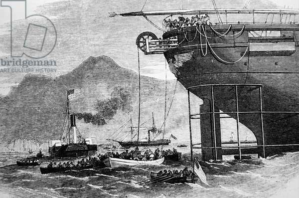 The 'Niagara' used during the creation of the Atlantic Telegraph, 1850