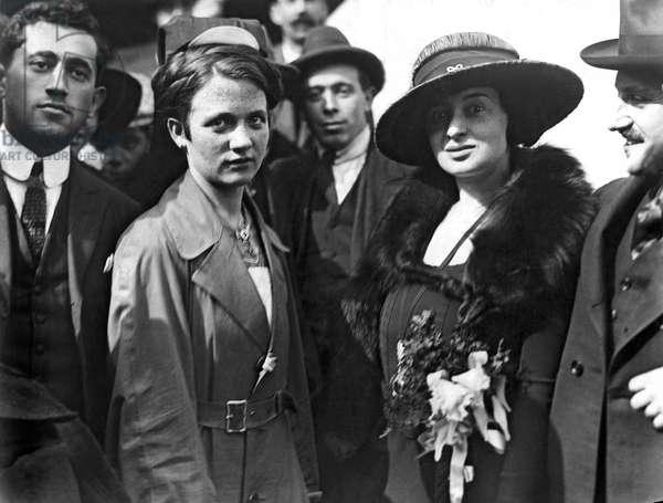 Society Women In Steerage, New York, New York, c.1920  (b/w photo)