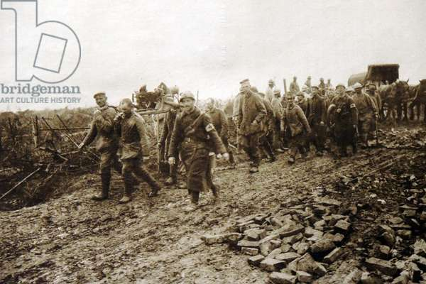 German prisoners of war captured by French forces during World War 1