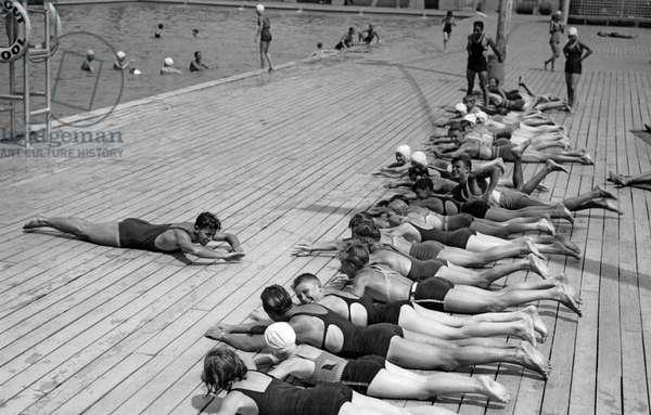 Children Getting Swim Lessons