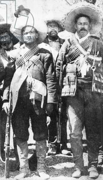 Calixto Contreras (left) with Pancho Villa, 1911