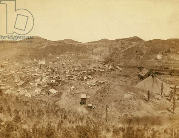 Lead City Mines and Mills. The Great Homestake Mines and Mills 1889 (photo)