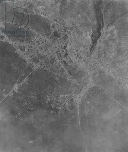 Aerial Picture of Artillery Damage, 1942 (b/w photo)