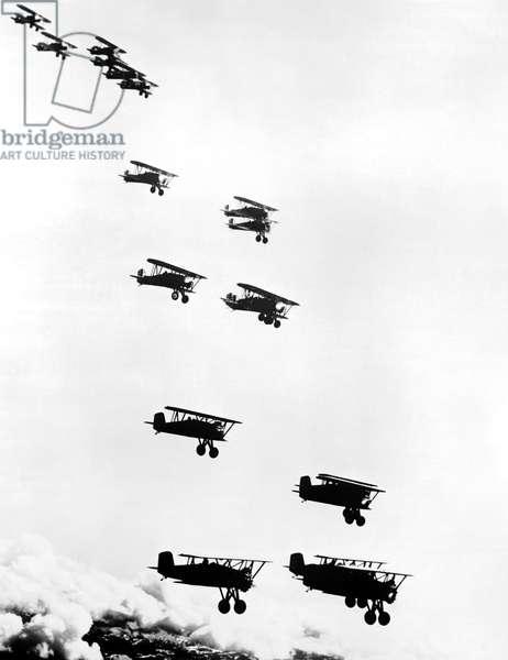 Boeing Army Pursuit Planes, Seattle, Washington, c.1931 (b/w photo)