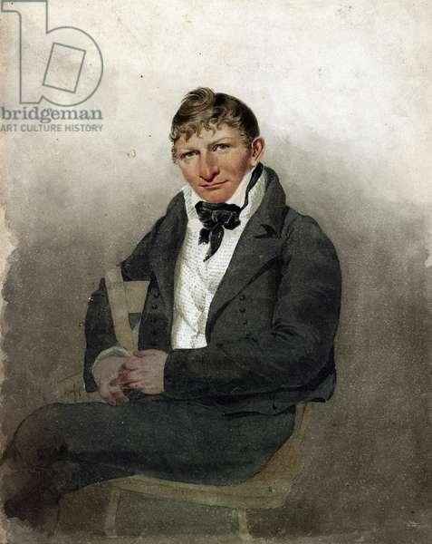 John Rubens Smith, self portrait, 1817 (oil on canvas)