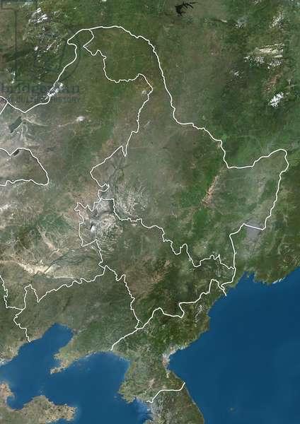 Northeast China and North Korea, Natural Colour Satellite Image (photo)
