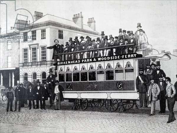 The Birkenhead horse-drawn tram