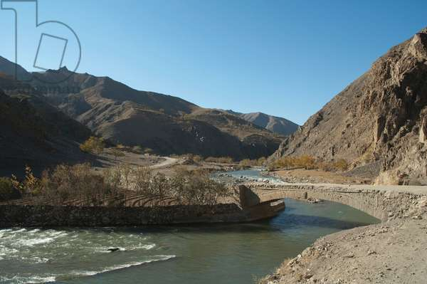 Ghorband River Near Ulya, Parwan Province, Afghanistan (photo)