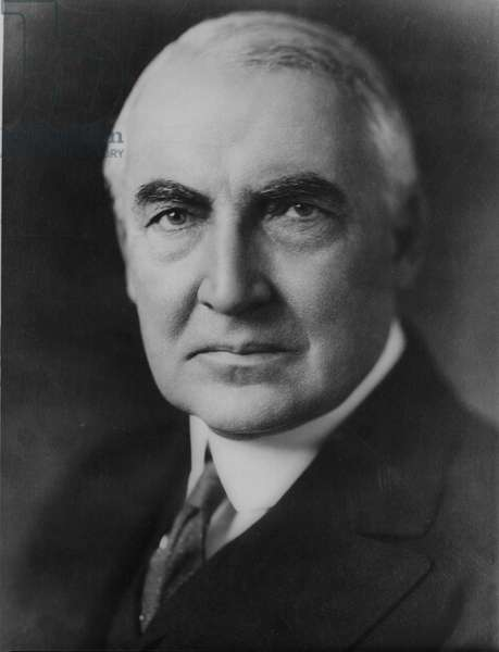 Warren Gamaliel Harding (1865-1923), 29th President of the United States of America 1921-1923. On 2 August 1923 suddenly he died while in the middle of a conversation with his wife.