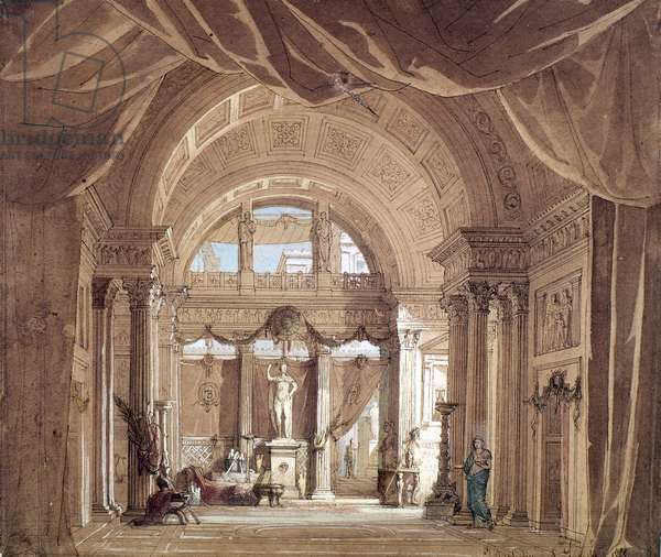 Stage design by Deoplechines and Lavastre, for Berenice