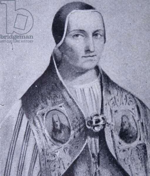 Engraving depicting Pope Innocent III