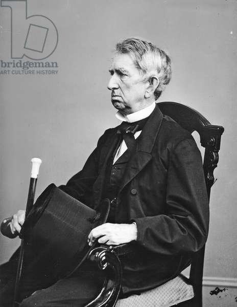William H. Seward, secretary of state from 1861 to 1869, during the Civil War. By Mathew Brady 19th century (photo)