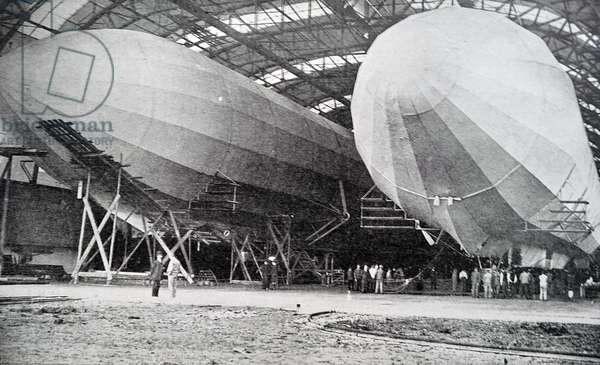 Zeppelin Airships in a Hanger