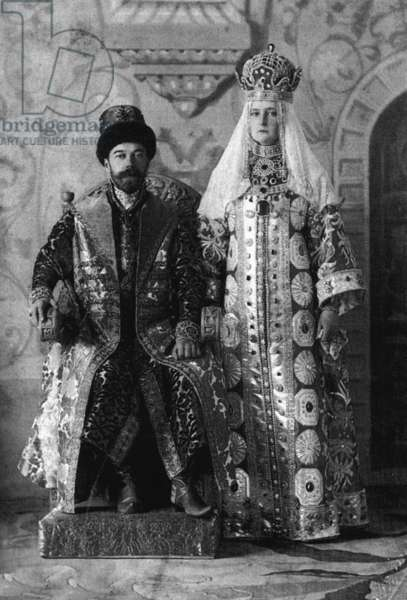 The last Tsar of Russia, Nicholas II and the empress of Russia, Alexandra Fedorovna, 1903