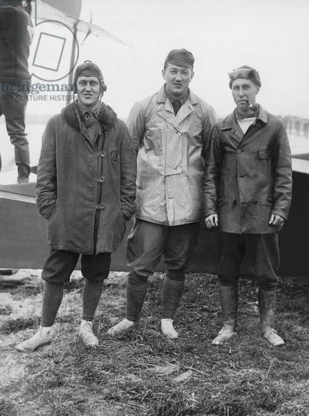 Training For Aviation Corps, United States, c.1917 (b/w photo)