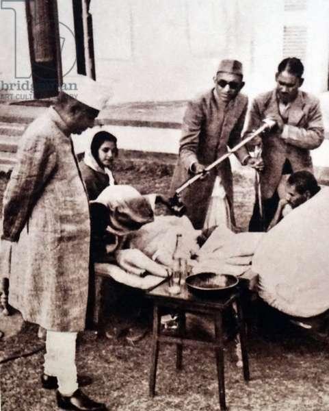 Radio broadcast during a hunger strike by Mohandas Karamchand Gandhi