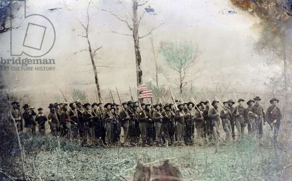 Union Soldiers, 1862 (photo) (colour photograph)