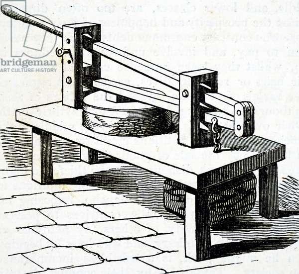 A cheese press.
