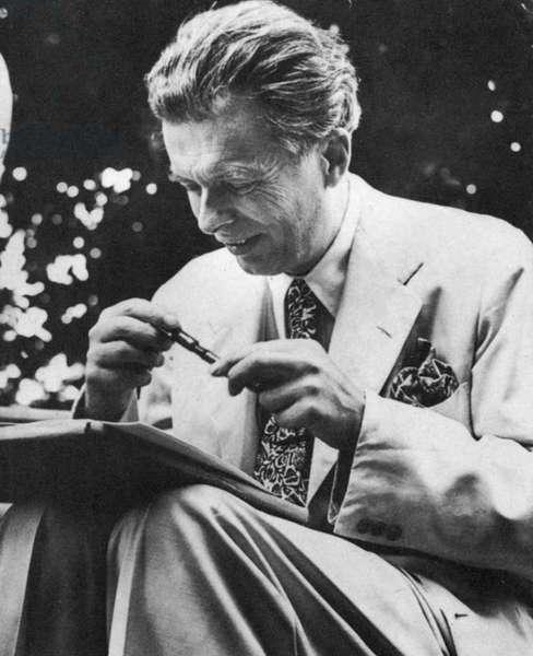 Aldous Leonard Huxley (1894-1963) English essayist and novelist, best remembered for Brave New World (1932)
