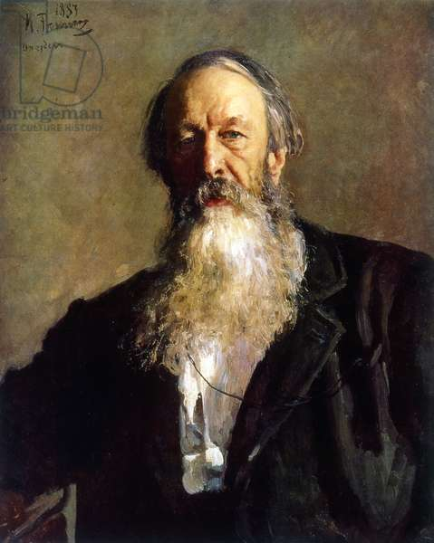 Portrait of VV Stasov, 1883