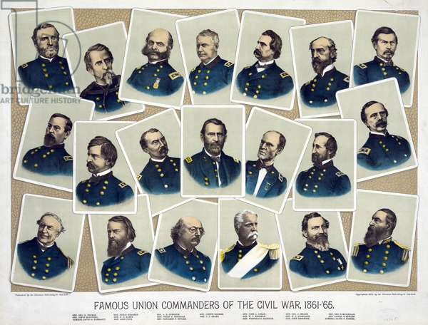 Famous Union commanders of the Civil War, 1884