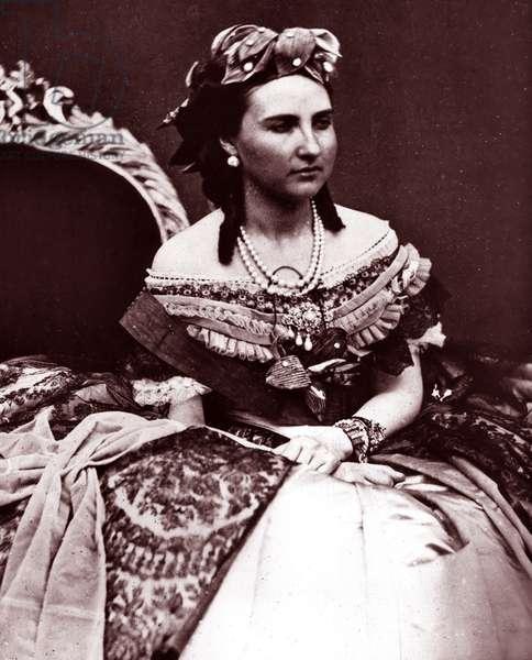 Carlota of Mexico, empress consort of Emperor Maximilian I of Mexico, 1865