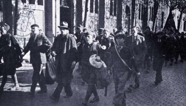 The American Lincoln battalion of the International Brigades