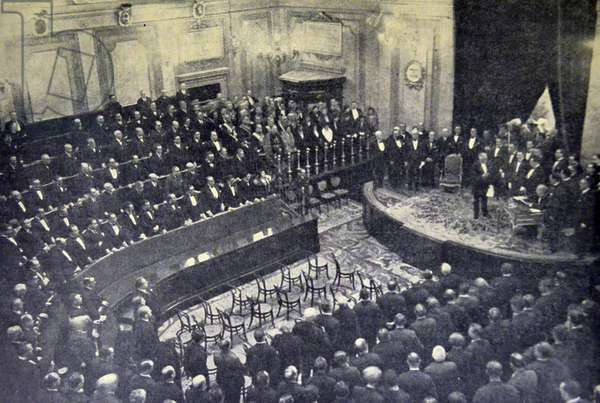 Spanish civil war: Alcala Zamora takes the oath of office in the Hall of Sessions of Congress