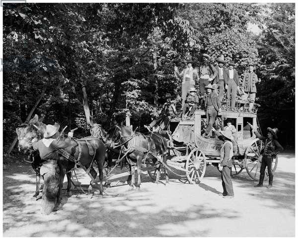 Niagara Falls, June 23d, 1898, Pawnee Bills Wild West Co (b/w photo)