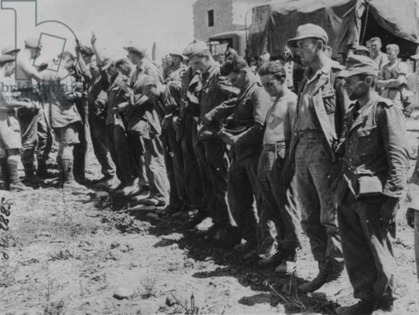 Soldiers Captured From Cassino, 1942 (b/w photo)