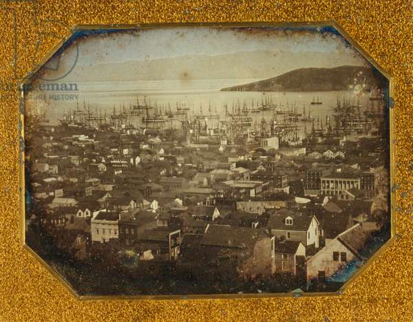 View of San Francisco harbour [1850 or 1851]. photograph : half-plate daguerreotype.