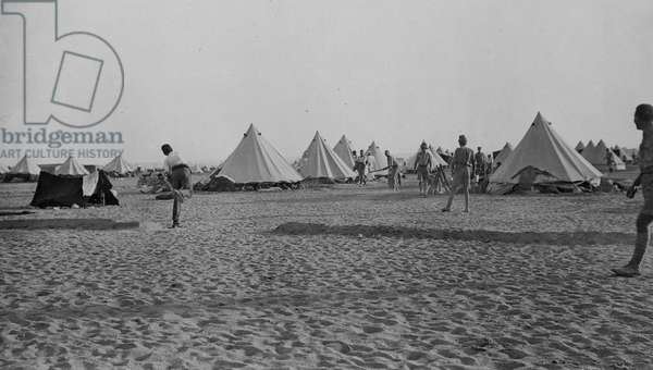 This view was taken at the New Zealanders' camp at Zeitoun near Cairo, 1916 (b/w photo)