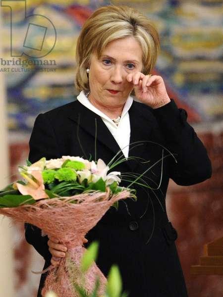 Hillary Clinton Makes A Speech At Lomonosov Moscow State University : US Secretary of State Hillary Clinton makes a speech at Lomonosov Moscow State University in Moscow, Russia, 15/10/13 ©ITAR-TASS/UIG/Leemage