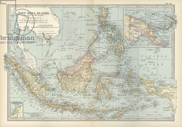 Map of East India Islands with New Guinea