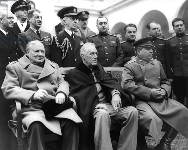 Crimean Conference In Yalta (b/w photo)