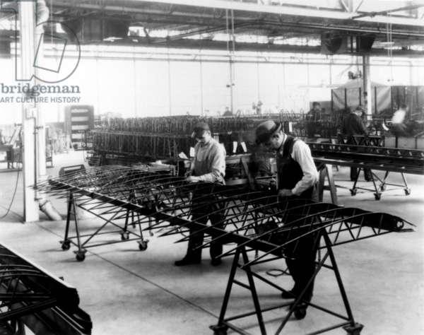 Igor Sikorsky Working in his Factory.