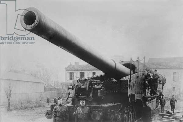 WWI Railway Artillery 1918 (photo)