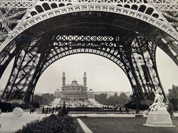 Photographic print of a view of the Eiffel Tower