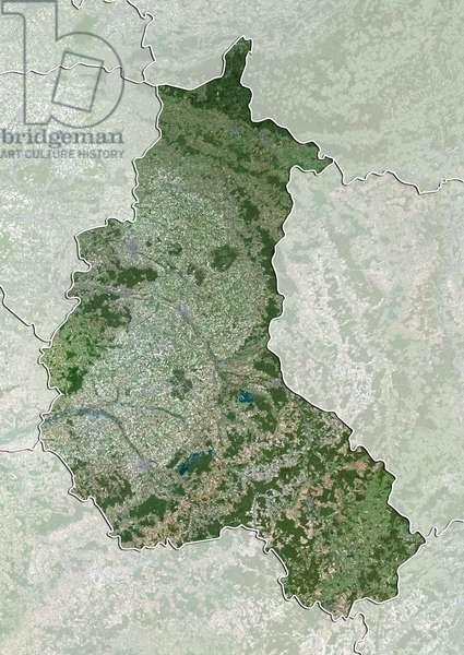 Region of Champagne-Ardenne, France, True Colour Satellite Image