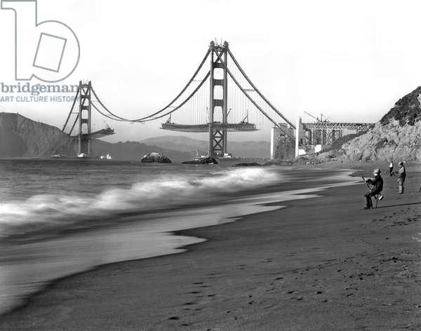 Baker Beach In SF (b/w photo)