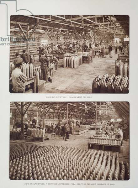 Workers filling shells in the Gaineville ammunition factory at Graville during World War One, Belgium ©UIG/Leemage