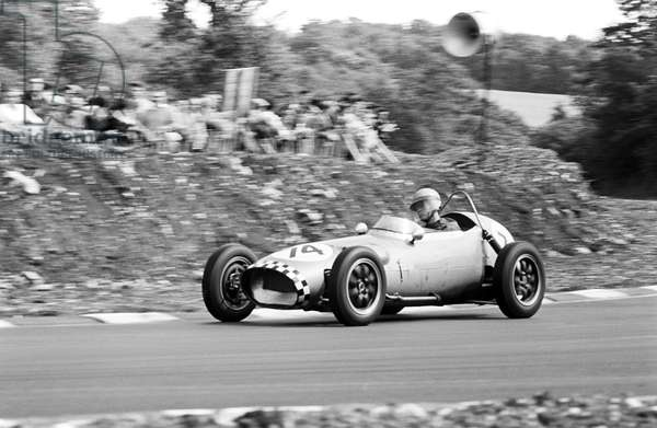 Tony Maggs in a Gemini Mk 2 front-engined Formula Junior car (b/w photo)