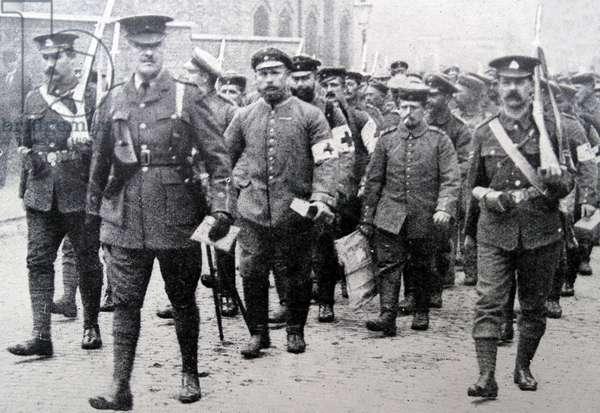 German Prisoners of war in London, 1916