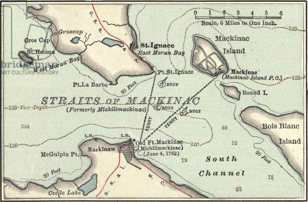 Map of Mackinac Island, Michigan
