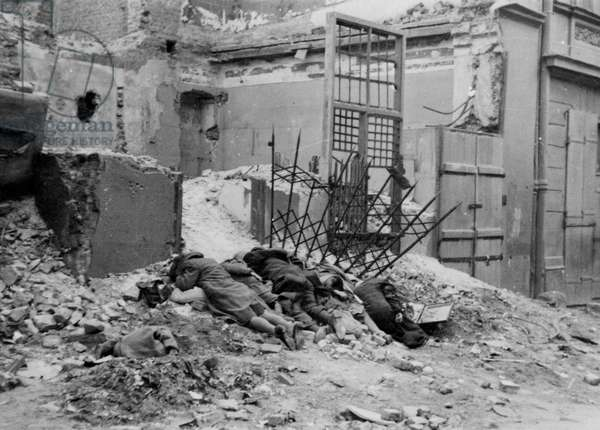 Bandits destroyed in battle (b/w photo)
